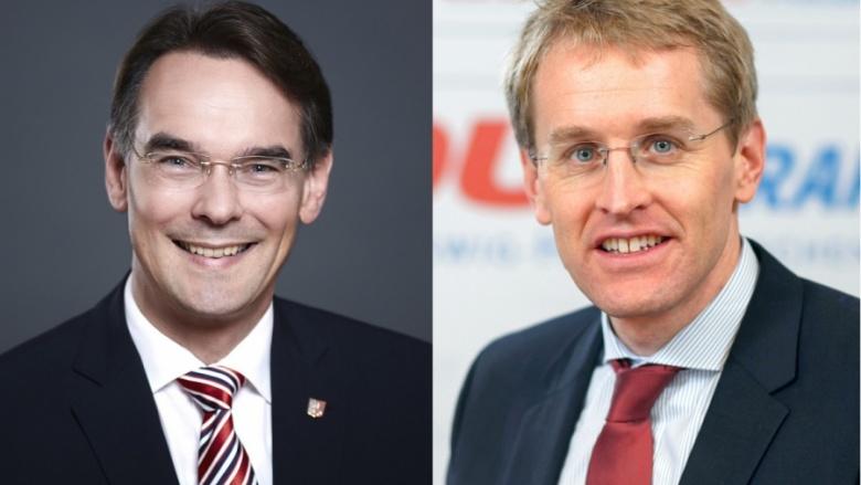 Ingbert Liebing und Daniel Günther: Herzlichen Glückwunsch, Hans-Joachim Grote!
